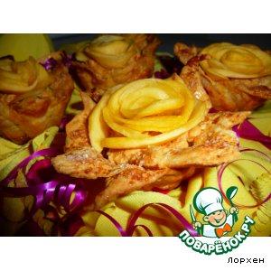 """Рецепт: Тарталетки """"Жeлтые розы"""""""