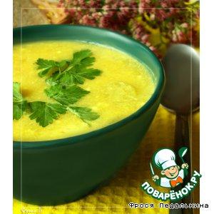 Рецепт: Тыквенный суп с сырными клецками