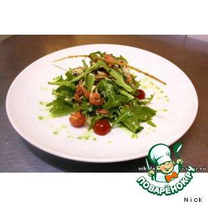 Рецепт Салат с блинчиком и слабосоленым лососем