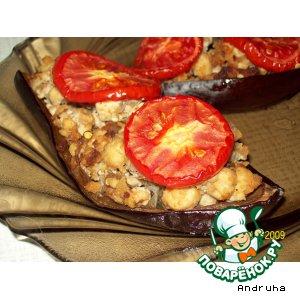 Лодочки из баклажанов – кулинарный рецепт