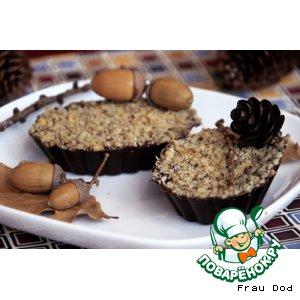 Рецепт: Тарталетки из шоколада с финиками и черносливом