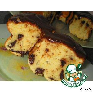 Рецепт: Апельсиновый кекс с шоколадной крошкой