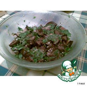 Рецепт: Баклажаны в зелени