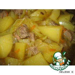 """Рецепт: Рагу овощное с мясом """"По-домашнему"""""""