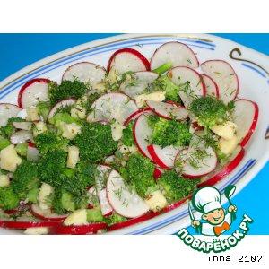 Рецепт: Салат из брокколи с маринованным сыром