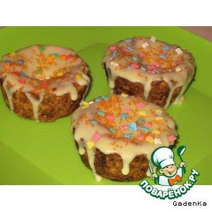 Рецепт: Тарталетки с начинкой из топленого йогурта