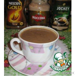 Homemade chocolate cappuccino