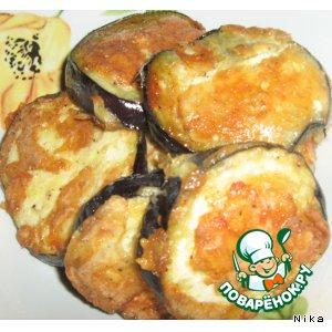 Рецепт: Жареные баклажаны с сыром