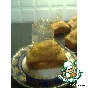 Рецепт: Лимонные кексики с карамелью