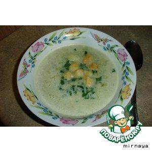 Рецепт: Суп-пюре с луком-пореем