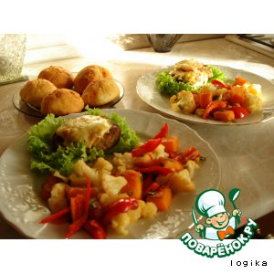 Рецепт: Овощной микс с тыквой