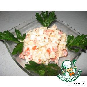 Рецепт: Салат из гребешков с помидорами
