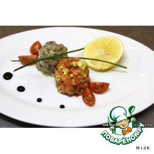 Рецепт: Севиче из лосося и сибаса