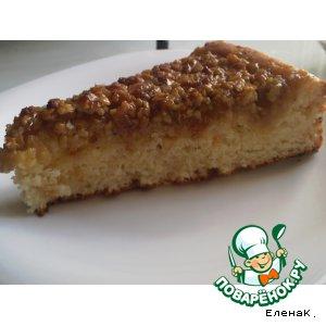 Рецепт: Творожный пирог с медом и орехами