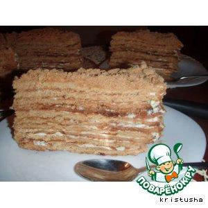 Рецепт: Домашний медовый торт
