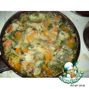Рецепт: Голубой хек с овощами