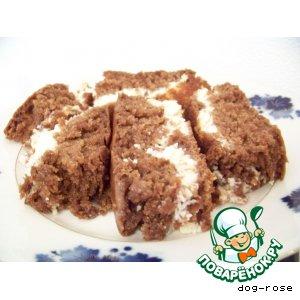 Рецепт Шоколадный кекс с творожной начинкой