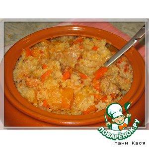 Рецепт: Ячневая каша с тыквой и мясом
