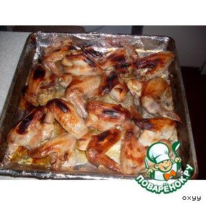 Рецепт: Медовые крылышки  в соевом соусе