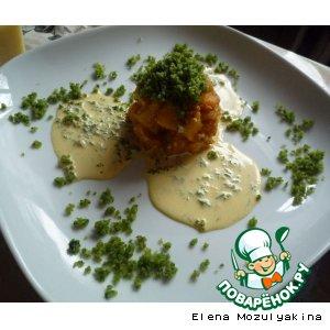Рецепт: Жареная тыква со сливочным соусом
