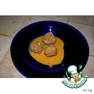 Рецепт: Тефтели в томатно-сливочном соусе