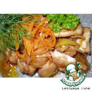 Рецепт: Салат из рыбы Фишка хе