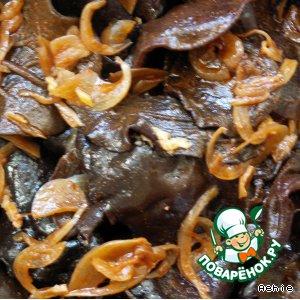 Рецепт: Закуска из черных грибов
