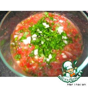 Рецепт: Сацибели из помидоров