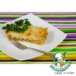 Рецепт: Пряная овощная лазанья с тыквой