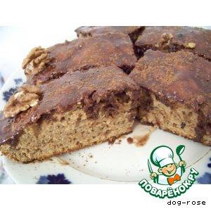 Рецепт: Шоколадный кекс с грецкими орехами