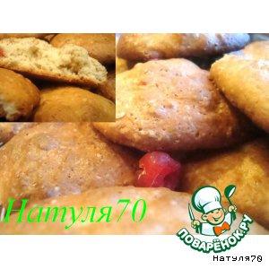 Рецепт: Миндальное печенье с сушеной вишней
