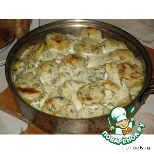 Рецепт: Картошечка под соусом