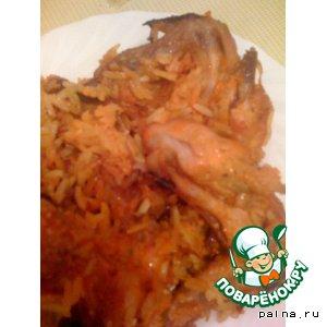 Рецепт: Куриные крылья с рисом наивкуснейшие