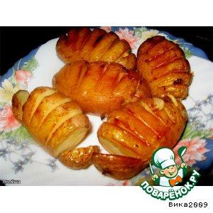 Рецепт: Картофель, запеченный с чесноком