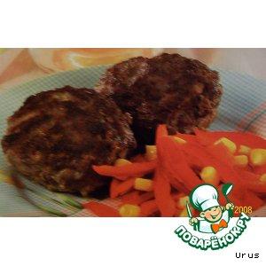 Рецепт Биточки с сыром  и  овощами