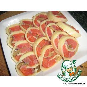 Рецепт: Сырный рулет из семги