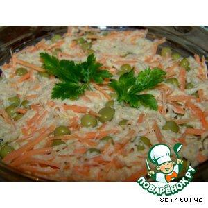 """Рецепт: Корейский салат """"Танец бабочек"""""""