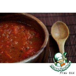Рецепт: Суп из поджаренных помидоров