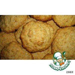 Рецепт: Овсяное печенье