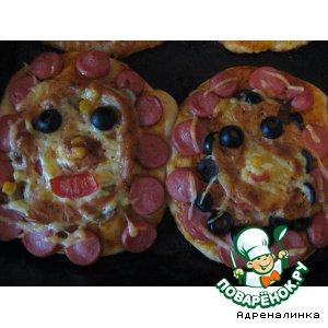 "Рецепт: Детская пицца ""Дружбаны"""
