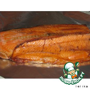 Trout hot smoked