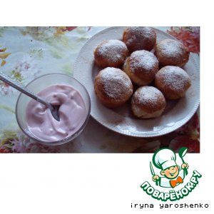 Рецепт: Пончики со сливами