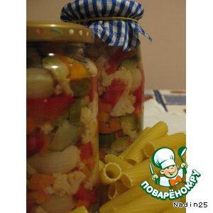 Рецепт: Овощное ассорти для зимних салатов
