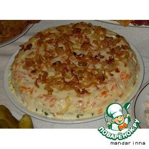 Рецепт: Рыбный салат Фламинго