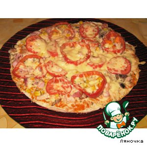 Рецепт: Пицца Хитрый лис