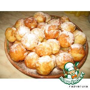 Рецепт: Вкусные пончики