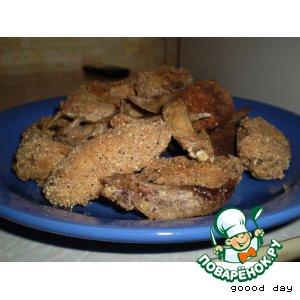 """Рецепт: Куриные крылышки """"Хрустящий полет"""""""