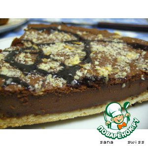 Рецепт: Шоколадный тарт с орехами
