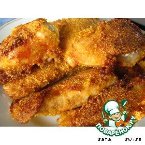 Рецепт: Куриные грудки в кукурузной панировке