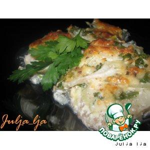 Рецепт: Сочная рыбка под сырно-горчичной корочкой